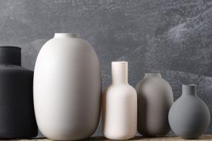 Five Ceramic Vases in