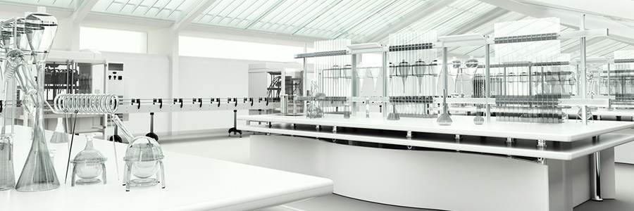 white laboratory room - clean and empty