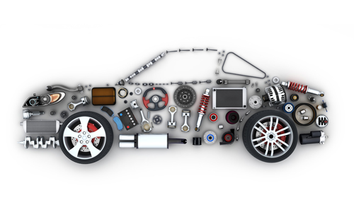 Illustration of a car showing different car parts